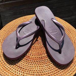 Haviannas High purple flip flops USA 9-10 Mens